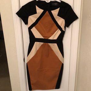 Bodycon geometric dress, ASOS.